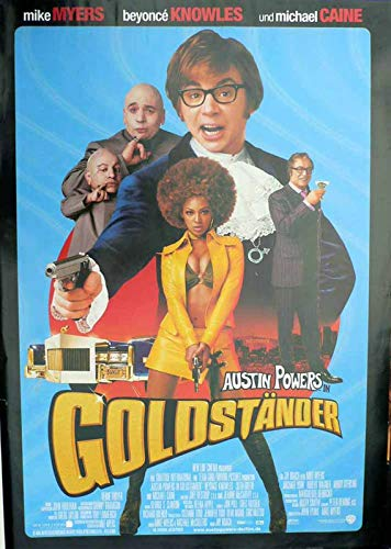Austin Power in Goldständer Filmplakat 120x80 (G)