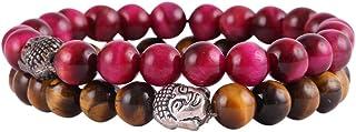 Aatm Natual Healing Gemstone Tiger Eye with Pink Tiger Eye Bracelet