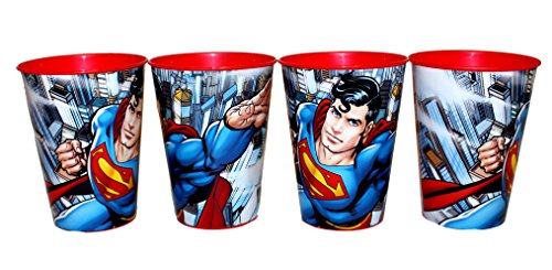 4 pieza DC Comic Superman Vaso Zumo Vasos Set