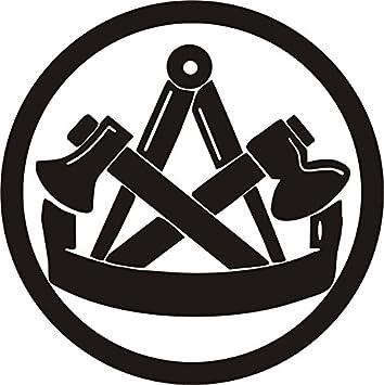 Blattwerk Design Zimmermann Zimmerer Kfz Aufkleber Autoaufkleber Innungszeichen Beruf Handwerk Innung M070 Schwarz 200 Mm X 200 Mm Küche Haushalt