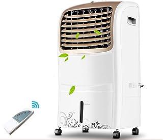BD.Y Ventilador de Aire Acondicionado Enfriador de Aire de Tipo frío único Humidificador de 65 vatios, Temporizador de 7,5 Horas Control Remoto de 6 m Tanque de Agua Grande de 10 l, pa