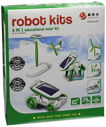 CEBEKIT-C0117 CEBEK Kit Educativo Solar 6 EN 1, Color Amarillo (C0117)