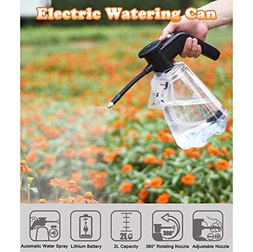 2L Elektrische drukspuit met mondstuk, automatische gieter Gieter Pot Tuingereedschap reinigen