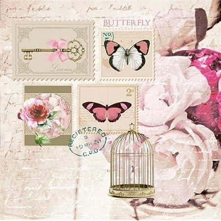 20 Servietten Rosen Roseway Blumen Vintage basteln Decoupage Tischdeko 33x33cm
