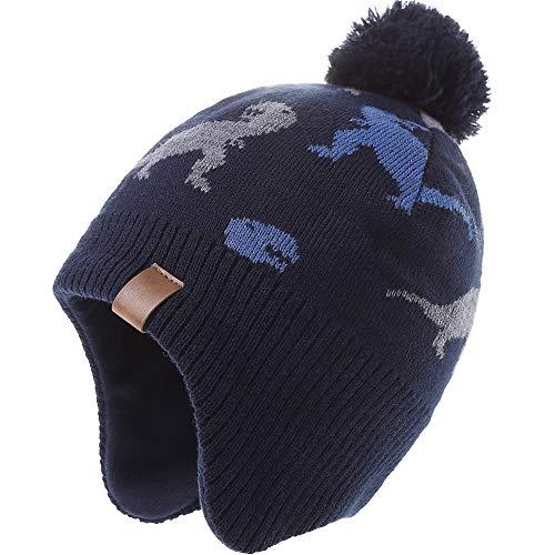 AHAHA Sombreros de Punto Pompom para niños Sombreros de Invierno Earflap