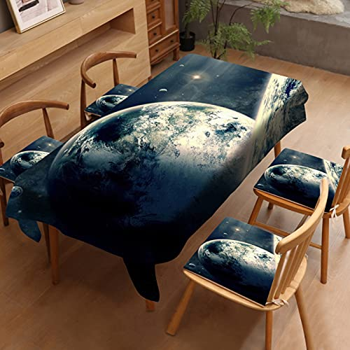 sans_marque Mantel, cubierta de mesa lavable que se puede utilizar para decorar la mesa de la cocina y el buffet de la encimera, y se puede limpiar mantel de 140 x 160 cm