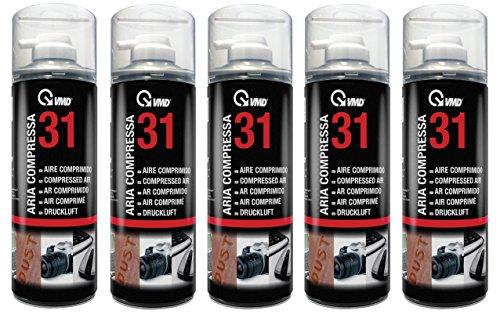 5 x aria compressa Duster Cleaner spray, mod. 17231 400 ml senza CFC
