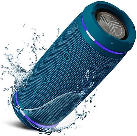 TREBLAB HD77 Blue Premium Bluetooth Portable Speaker 360 HD Surround Sound Wireless Dual Pairing product image