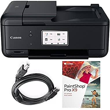 Canon PIXMA TR8520 (MX922 Relacement) Wireless Home Office All-in-One Printer (TR 8520, Paint Shop Kit)