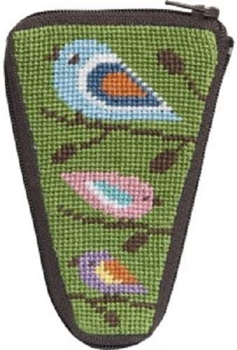 Stitch Zip Needlepoint Scissor Case Kit Birds SZ926 of Sales of SALE items from new works Color - Max 72% OFF