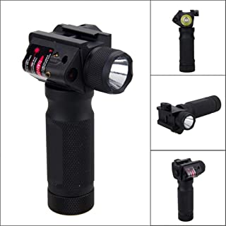 EAPTS Modified Exterior Red Dot Glare Flashlight Handle for 21mm Guide Rail