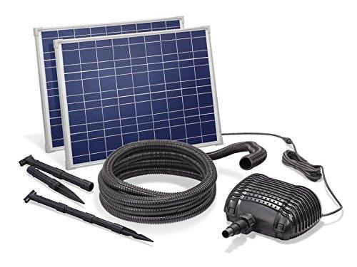Solar Bachlaufset 70W Solarmodul 3400 l/h Förderleistung 3m Förderhöhe inkl. 5m Schlauch 32mm Bachlaufpumpe esotec pro Komplettset 101966