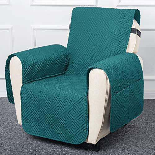 100% Waterproof Chair Covers for Living Room, Sofa Cover for Pets Leather Couch Cover Chair Protector Non Slip Furniture Protector Quilted Couch Protector, Machine Washable