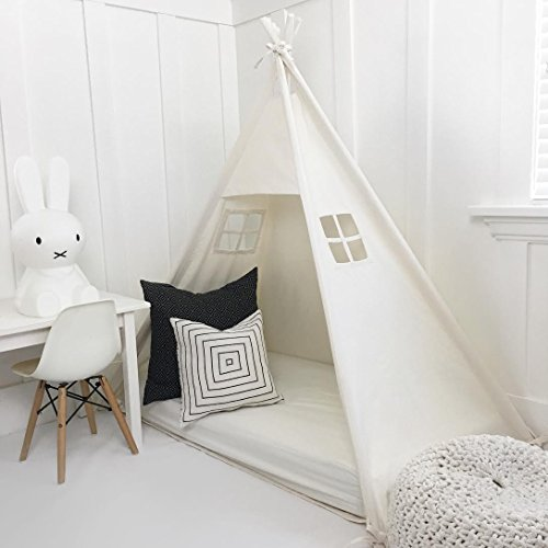 Domestic Objects Handmade Cotton Play Tent Canopy. Great for Toddler Transition to Big Bed - Crib No Doors
