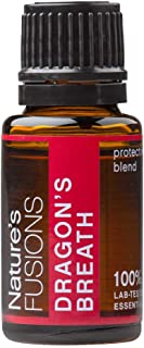 Nature's Fusions Immune Support Essential Oil - Dragon's Breath Blend for Aromatherapy - Oregano, Clove, Peppermint, Cinna...