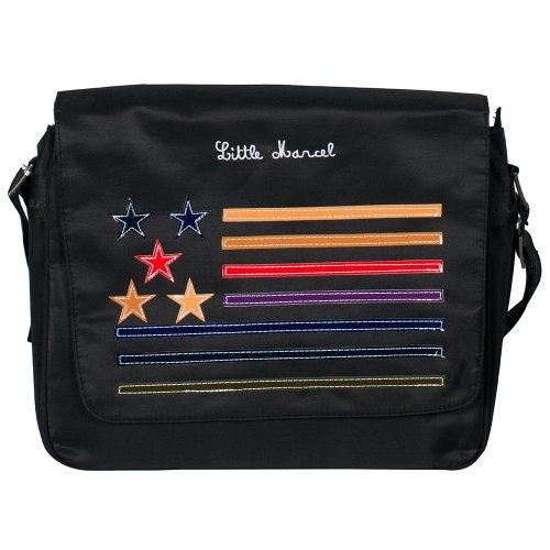 Little marcel - Sac besace étoiles MIAOU - Taille Taille unique - Couleur Noir