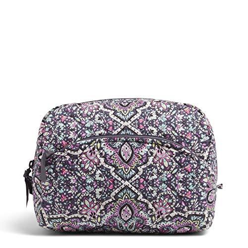 Vera Bradley Women's Signature Cotton Large Cosmetic Makeup Bag, Indio, One Size