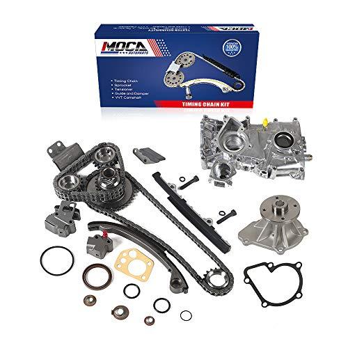MOCA New Timing Chain Kit & Water Oil Pump for 1991-1999 Nissan 240SX 2.4L DOHC L4 16V KA24DE