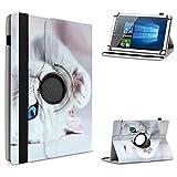 UC-Express Tablet Hülle kompatibel für Vodafone Tab Prime 6/7 Schutzhülle aus Kunstleder Tasche mit Standfunktion 360° drehbar Universal Cover Hülle, Farben:Motiv 9