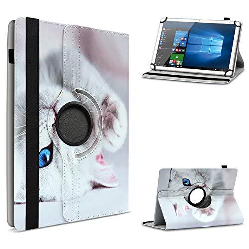 UC-Express Tablet beschermhoes voor 10-10.1 inch tas gemaakt van hoogwaardig kunstleer hoes standfunctie 360° draaibaar Universal Case Cover, Lenovo TAB 3 A10-70, Motief 10