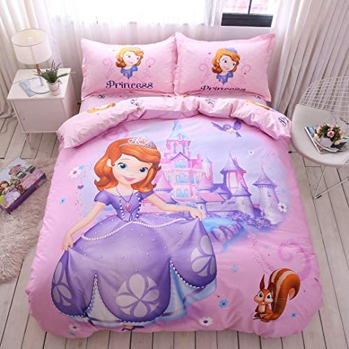 Casa 100 Cotton Kids Bedding Set Girls Sofia The First Princess Pink Duvet Cover and Pillow product image