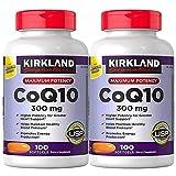 Kirkland Signature Maximum Potency CoQ10 300 mg 100 Softgels Each Pack of 2