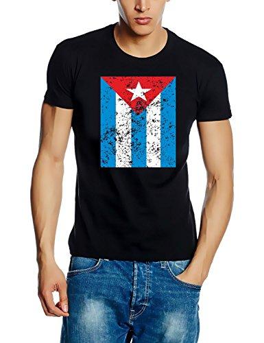 Coole-Fun-T-Shirts T-Shirt Cuba Vintage - Kuba Libre, schwarz, L, N10779_Schwarz_GR.L