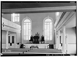 HistoricalFindings Photo: Old School Baptist Church,Main Street,Hopewell,Mercer County,NJ,New Jersey,1