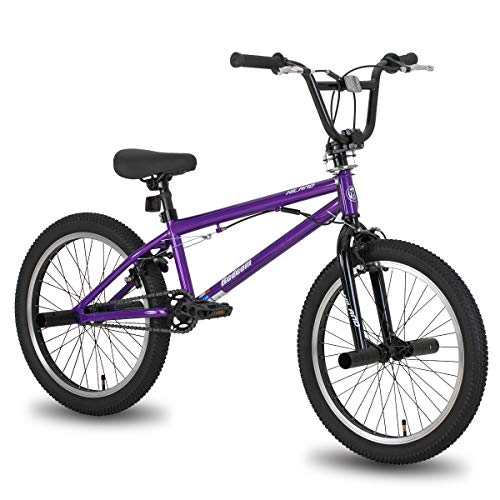 Hiland 20 Inch Kids Bike BMX Bicycles Freestyle for Boys Teenagers Purple