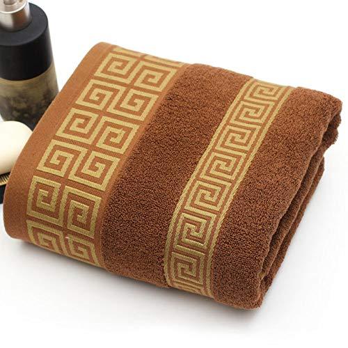 WLQCPD Handdoek,Handdoekenset 1 stuks badhanddoek 2 stuks gezichtshanddoek Katoenen handdoeken 100% katoengecomprimeerdSneldrogendMachine wasbaar, chocolade, 70x140cm2x35x75cm