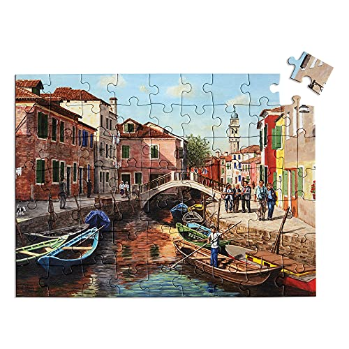 Relish 63 Piece Burano Island Dementia Jigsaw Puzzle – Dementia Activities / Alzheimer's Gifts & Puzzles for Seniors
