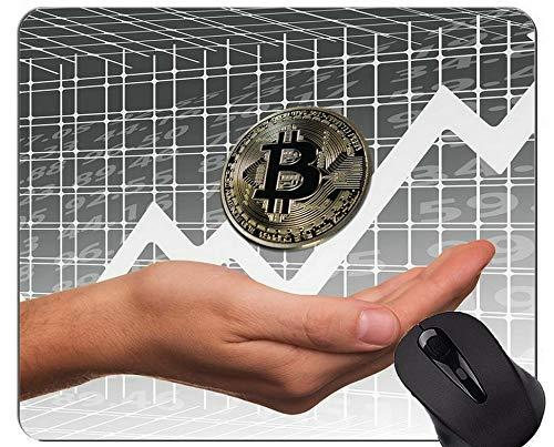 Gaming Mouse Pad, Geld Bitcoin Paragraph Rutschfeste Gummibasis Mousepad