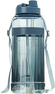 Nicoone 3 l butelka na wodę o dużej pojemności podwójna słomka butelka sportowa z regulowanym paskiem do aktywności na świ...