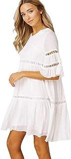 Listicle Women Bell Sleeves Ruffle Babydoll Dress