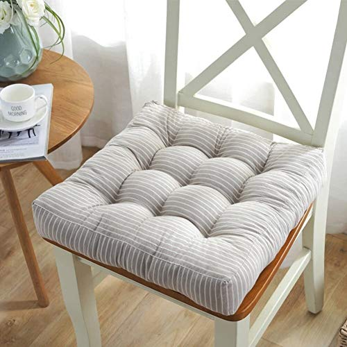 Tatami - Almohadillas para silla, antideslizante, más gruesas, para oficina, suave, para comedor, para silla de ordenador o estudiante, 43 x 43 cm, tamaño: 43 x 43 cm, color: E