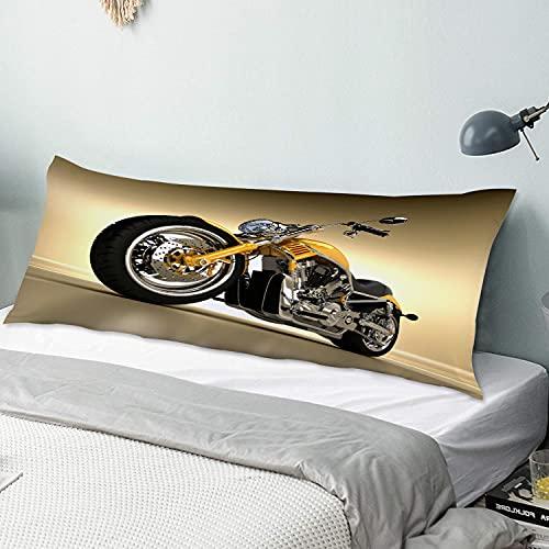 Funda de Almohada para el Cuerpo,Hierro Custom Estética Hobby Moto Espejos Modernos futuri,Funda de cojín Larga con Cremalleras para sofá de Dormitorio en casa (20x54 Pulgadas)