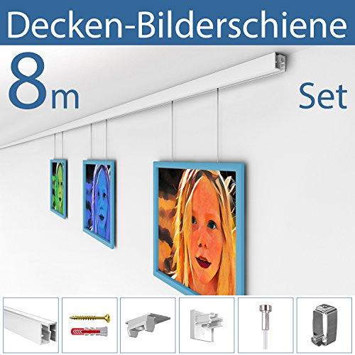 STRÜSSMANN Decken Bilderschienen Set | D200 | an jeder Decke montierbar