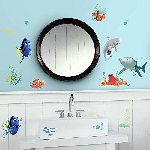 RoomMates RM-Disney Findet Dorie, PVC, Mehrfar Wandsticker, Wanddeko, Mehrfarbig, 2.5 x 13 x 27 cm