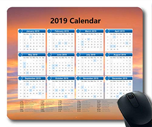 2019 Calendar Pads,Mouse mat,Starry Sky Painting Gaming Mouse pad