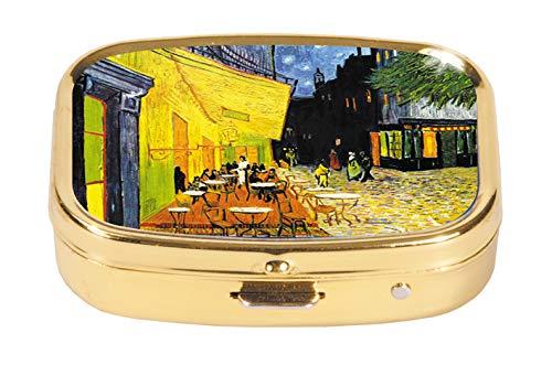 Fridolin Pastillero de Metal, diseño de Cuadro de Van Gogh