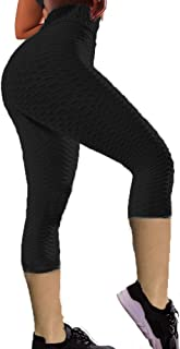 Slimind Women's High Waist Yoga Pants Tummy Control Booty Leggings Workout Running Butt Lift Scrunch Tights