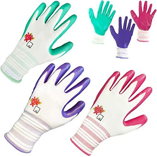 Gardening Gloves for Women Gardening Gifts for Women Garden Gloves Womens Gardening Gloves Nitrile...