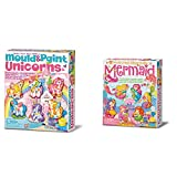 4M Moldea Y Pinta Unicornios, Multicolor (404708) + Great Gizmos 2016 Set para Moldear Sirenas