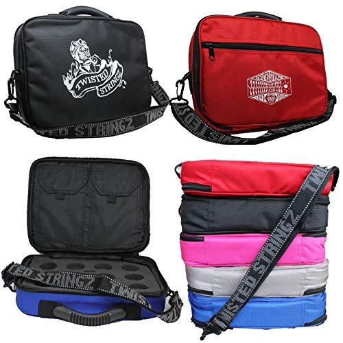 Twisted Stringz Deluxe Yo-Yo Bag - YoYo Carry Case - Holds 12 Yo-Yos- Triple Stitch Shoulder Strap -...