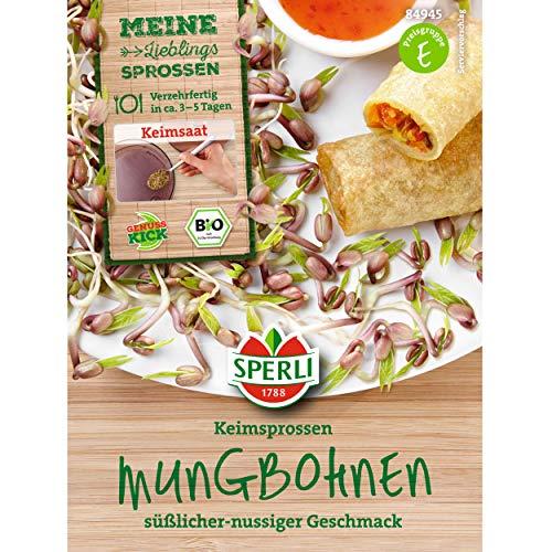 Graines de germination bio, différentes variétés de brocoletti, mélange d'arôme cresse, blé (fèvre de ungo).