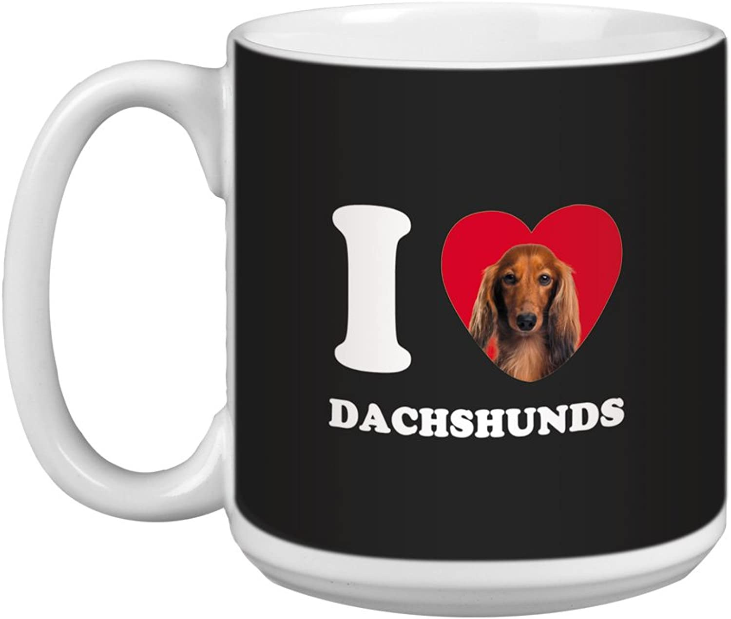 Tree Free Greetings XM29038 I Heart Dachshunds Artful Jumbo Mug, 20Ounce