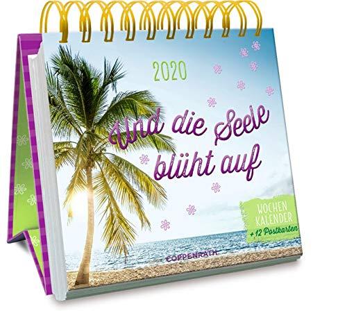 Und die Seele blüht auf 2020: Wochenkalender + 12 Postkarten (Jahreskalender)