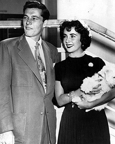 Elizabeth Taylor und Conrad Hilton Jr Fotodruck, 20 x 25 cm