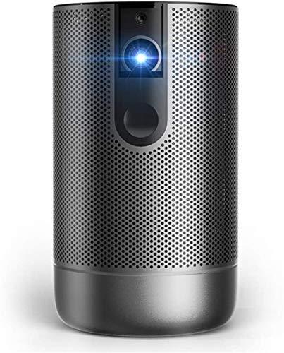 Inteligente nuevo proyector Inicio Smart Wi-Fi Mini proyector, 200 lúmenes ANSI, 360 ° altavoz, 40-300 pulgadas de imagen, nativa 1080P 1920X1080 4K HDR, enfoque automático, DLP, Wi-Fi, BT, HDMI, USB
