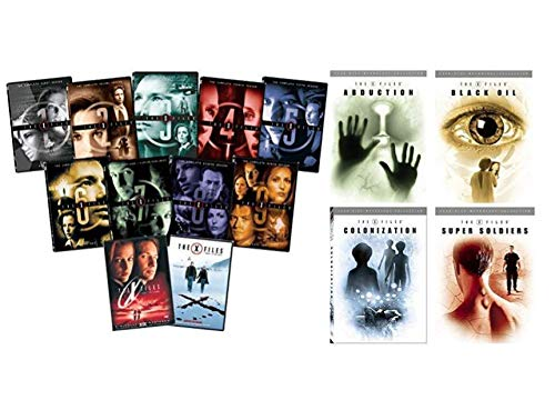 X-Files: The Complete TV Series 1-10 and Movie Collection + The X-Files Mythology: Complete Collection Volumes 1,2,3 & 4 - Abduction/ Black Oil/ Colonization/ Super Soldiers